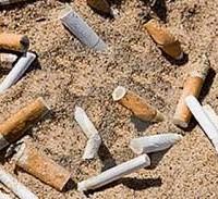 spiaggia fumo sigarette
