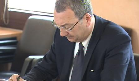 Sergio Bolzonello (Vicepresidente Regione FVG e assessore Attività produttive, Commercio, Cooperazione, Risorse agricole e forestali) durante la riunione della Giunta regionale - Pordenone 30/04/2015
