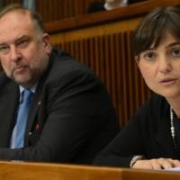 Roberto Cosolini (Sindaco Trieste) e Debora Serracchiani (Presidente Regione Friuli Venezia Giulia) in una foto d'archivio