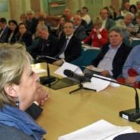 Maria Sandra Telesca (Assessore regionale Salute) alla VI Conferenza regionale sull'Amianto del Friuli venezia Giulia, nella sede della MIB School of Management - Trieste 15/05/2015