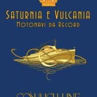 """Manifesto della mostra """"Saturnia e Vulcania: motonavi da record"""" visitabile a Monfalcone, alla Galleria d'Arte Contemporanea dal 4 al 20 settembre 2015 (Foto Italian Liners)"""