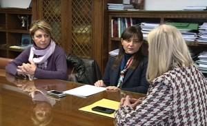 Maria Sandra Telesca (Assessore regionale Salute), Debora Serracchiani (Presidente Regione Friuli Venezia Giulia) e Silvia Altran (Sindaco Monfalcone) in Municipio - Monfalcone 15/02/2016