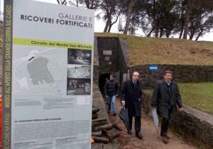 Gianni Torrenti (Assessore regionale Cultura) ed Enrico Gherghetta (Presidente Provincia Gorizia) al Museo della Grande Guerra - Monte San Michele 29/02/2016