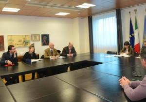 Debora Serracchiani (Presidente Regione Friuli Venezia Giulia) incontra i rappresentanti dei lavoratori e dei sindacati di categoria sulla situazione della Hypo Alpe Adria Bank S.p.A. - Udine 21/03/2016