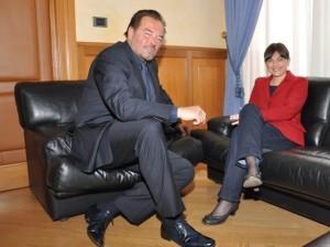 Sebastiano Somma (Attore) e Debora Serracchiani (Presidente Regione Friuli Venezia Giulia) - Roma 10/06/2016