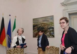 Paola Nardini (Console onorario Germania a Venezia), Debora Serracchiani (Presidente Regione Friuli Venezia Giulia) e Jutta Wolke (Console generale Germania a Milano) - Trieste 18/04/2016