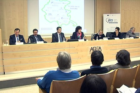 """L'incontro """"Dalla parte delle Imprese. Le opportunità di crescita e di sviluppo in Friuli Venezia Giulia"""" nella Conference Hall del Centro Congressi di AREA Science Park - Padriciano (TS) 07/04/2016"""