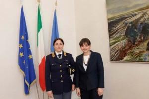 Alessandra Belardini (Dirigente Compartimento Polizia e Comunicazioni FVG) e Debora Serracchiani (Presidente Regione Friuli Venezia Giulia) - Trieste 13/04/2016